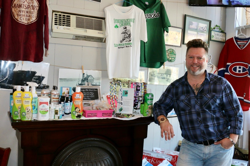 Glenn Deering says there's a growing demand for healthy pet food and natural products. He's looking to expand this aspect of the Barking Bean Café's operations when he moves to a new location in Hantsport. - Carole Morris-Underhill
