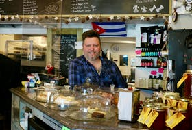 Glenn Deering, the owner of the Barking Bean Café in Hantsport, has big plans for expanding his business.