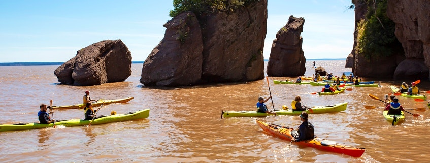 Hopewell Rocks are one of New Brunswick's premier tourist attractions and feature the highest tides in the world. Visitors can go at low tide and walk to the rocks, or at high tide via kayak. - Hopewell Rocks photo - Saltwire network