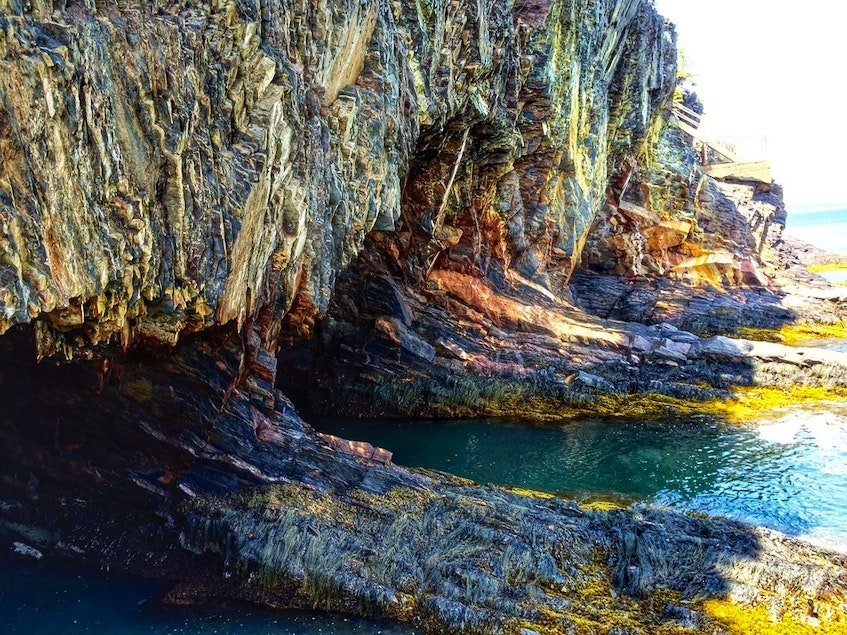 A look at the sea caves that gave The Ovens its name. - Mining Association of Nova Scotia photo - Saltwire network