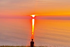 Emilie Chiasson sent this photo of a magnificent sunset from Malignant Cove near Antigonish, N.S. The way the beam of sunlight hits the water and meets the young boy standing on the platform at the sea's edge looks like he's being beamed up by a higher power! Beam me up, Scotty.