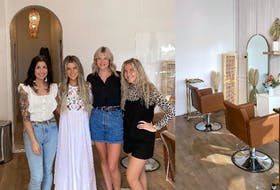"""""""This is my dream, and I'm so thankful!"""" says Seastrands Salon & Spa owner Lindsay Prowse (second from left), pictured here with Morgan Stevens (left), Haleigh Benson (second from right) and Marlee Green (right). - Photo Contributed."""