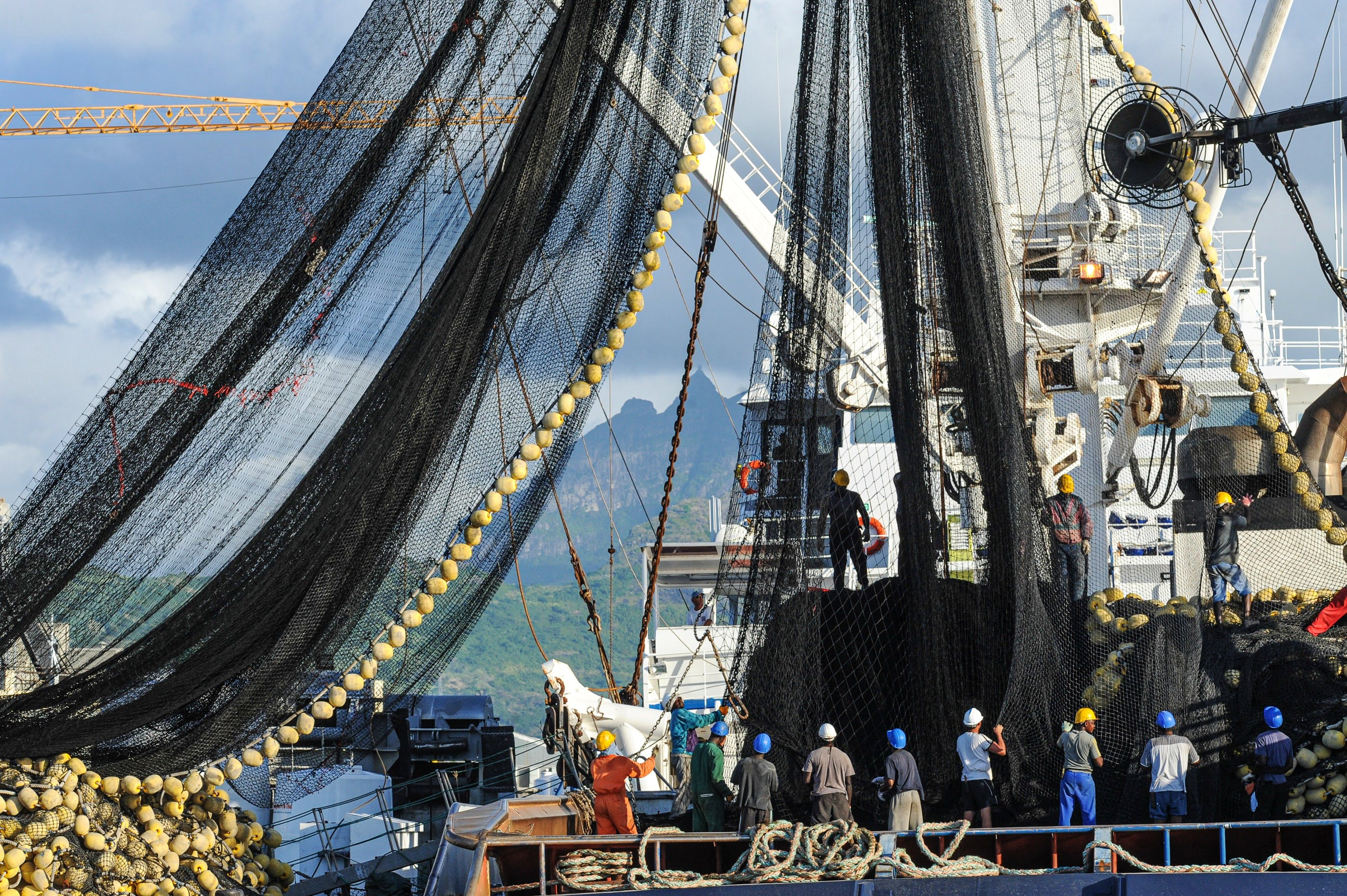 Around the world large fishing trawlers hunt the oceans for fish. Photo courtesy Unsplash/Jo Anne Mcarthur Photo