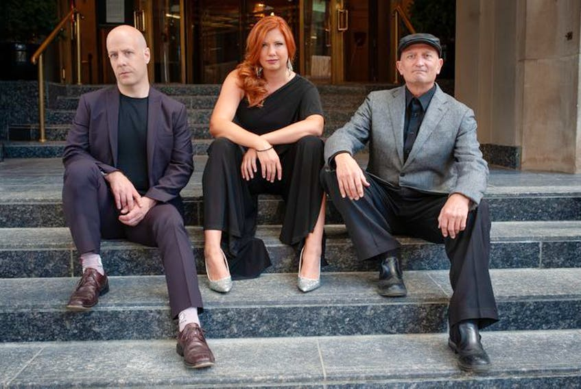 Dave Lake, Angela Wrigley and Derek Stoll of Calgary's Angela Wrigley Trio. Photo by Aaron McCullough.