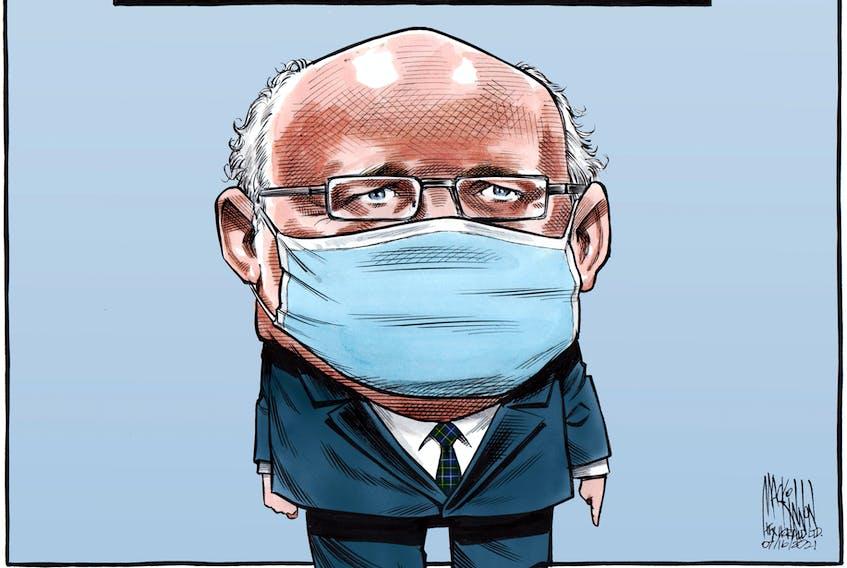 Bruce MacKinnon's editorial cartoon for July 16, 2021.