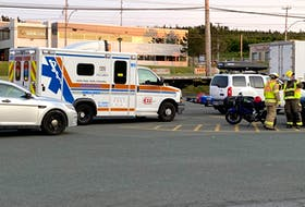 One man was seriously injured in a motorcycle crash on Kenmount Road Wednesday night. Keith Gosse/The Telegram