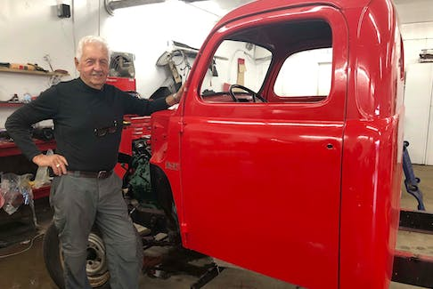 Bob Allen's lifelong love of automobiles has led him to restore a dozen vintage cars from the 1950s but right now he is working on a 1949 Mercury truck.