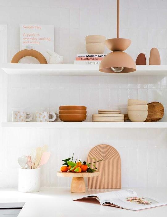 Functional and decorative kitchen shelves.  - PATRICK BILLER