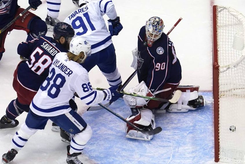 The Columbus Blue Jackets mourned goalie Matiss Kivlenieks at a service Monday. The 24-year-old died of fatal chest trauma during a fireworks display. USA TODAY SPORTS