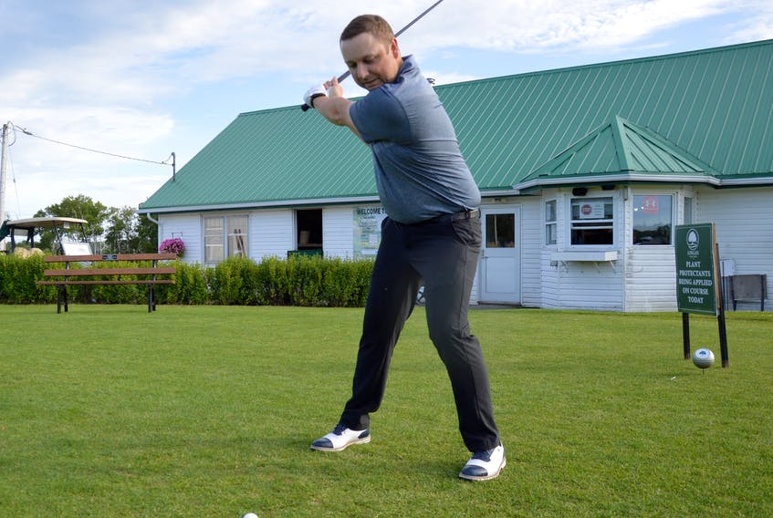 Kevin (Tuna) George will look to defend his title this weekend when he competes in The Roadbuilders presented by Caper Auto Sales at Lingan Golf and Country Club in Sydney. George will be seeking his third Roadbuilders title in four years. JEREMY FRASER • CAPE BRETON POST