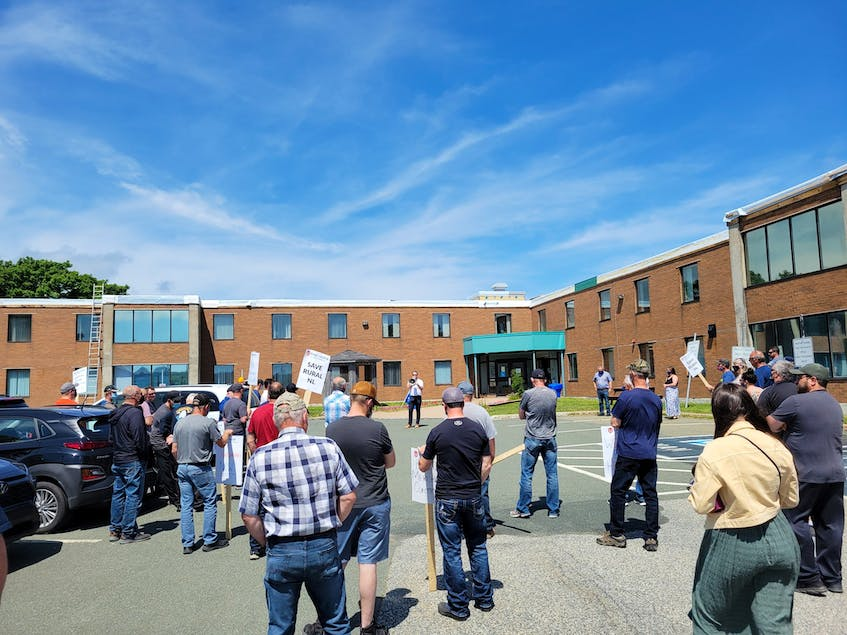 After what it called an urgent meeting with sea cucumber harvesters Friday, the FFAW-Unifor took the group to rally outside the Fisheries Building on Strawberry Marsh Road in St. John's. — Twitter