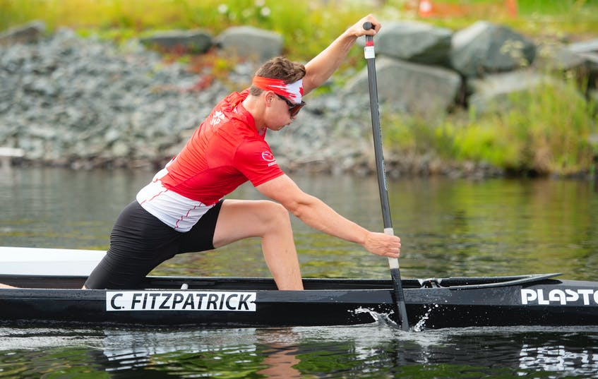 Dartmouth's Connor Fitzpatrick trains on Lake Banook on Thursday, July 16, 2021. Fitzpatrick is heading to Tokyo and will be the first Olympian from the Senobe Aquatic Club. - Ryan Taplin
