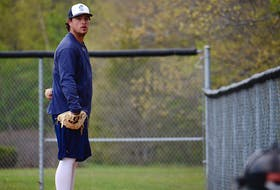 Pitcher J.P. Stevenson is playing for the Charlottetown Gaudet's Auto Body Islanders in the New Brunswick Senior Baseball League this summer.