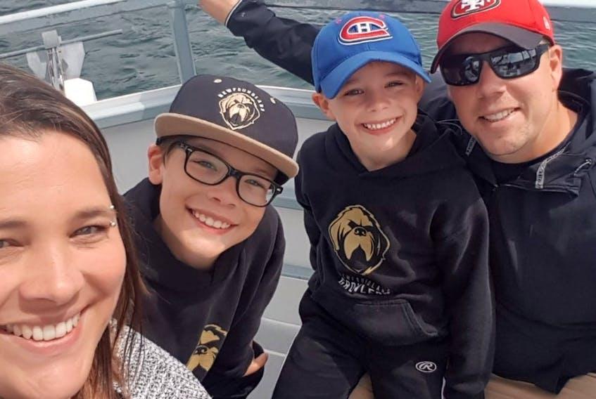 The Bennett family are (from left) Gillian, John Jr., Noah and John Sr.