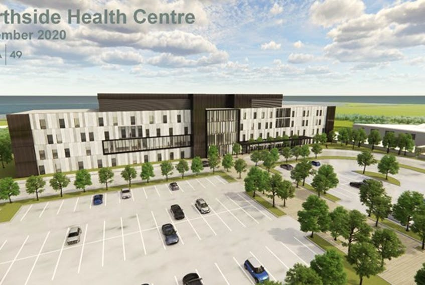 A rendering of the Northside Health Complex. The Government of Nova Scotia is planning to tender out early work for the facility.