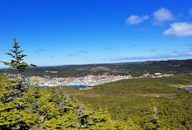 The view from the top of Winterton Mountain, formerly called Sugarloaf about 100 years ago. The spot is shrouded in legends of pirates and buried treasure.