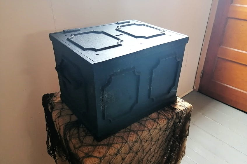 This black chest was discovered inside the cave on Winterton Mountain by two young brothers. It allegedly contained papers, but they were lost or destroyed.