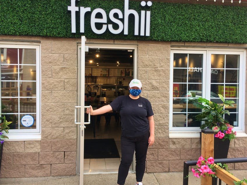Kathleen MacDonald, co-owner of one of the newest shops on the Charlotte Street block, Freshii, said she's extremely optimistic that the revitalization plan will result in untold benefits for businesses. CAPE BRETON POST PHOTO