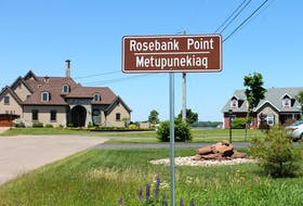 """This is one of the new Mi'kmaq signs installed by Stratford council. Metupanekiaq translates to """"steep red bank."""""""
