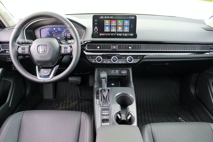 The maturation of the 2022 Honda Civic Sedan exterior flows neatly inside. Postmedia News