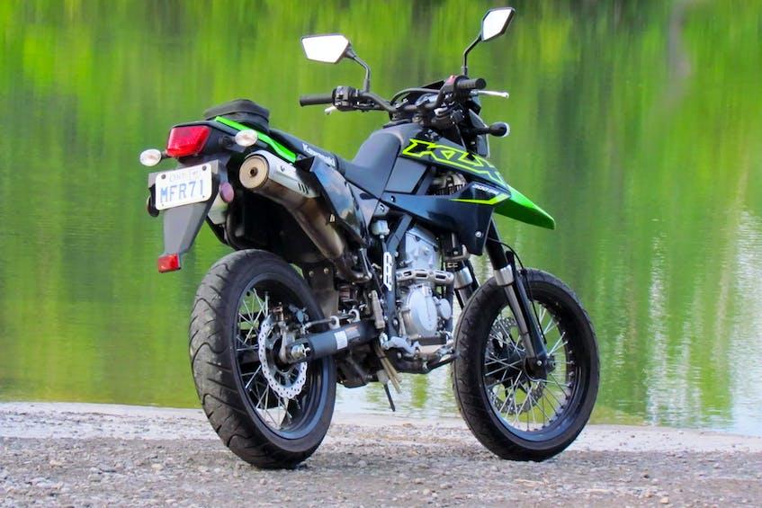 The 2021 Kawasaki KLX300SM remains fairly Spartan in its street-oriented equipment. Costa Mouzouris/Postmedia News