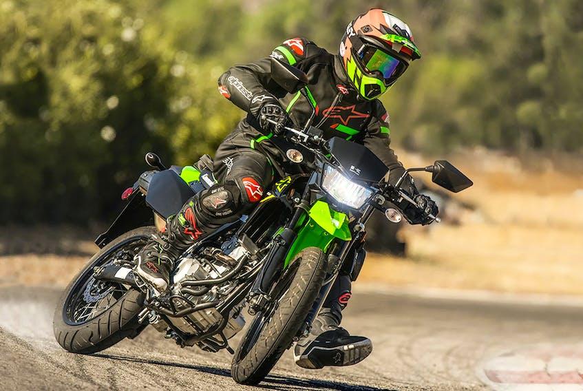 The 2021 Kawasaki KLX300SM is a featherweight among street bikes. Contributed/via Postmedia News