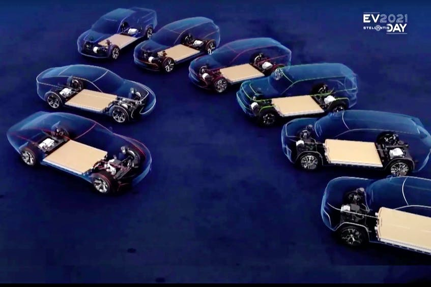 Eight vehicles will spawn from the STLA Large, including Ram 1500 EV on STLA Frame, within the next three to five years. Handout/via Stellantis