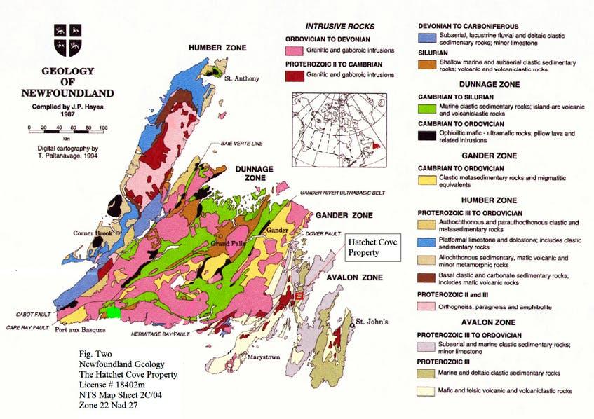 A geological map of Newfoundland and Labrador. - Government of Newfoundland and Labrador