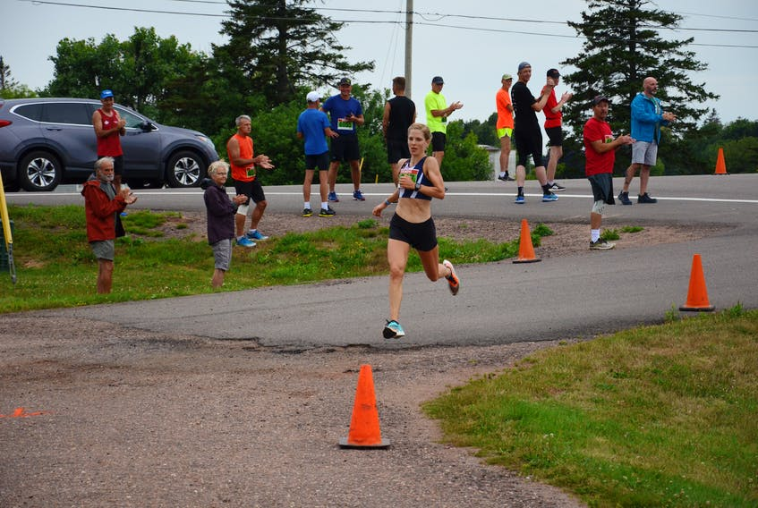 Stanley Bridge resident Jennie Orr was the top female runner in the 43rd annual Callbeck's Home Hardware Dunk River Road Race in Bedeque on JULY 26, 2020. Orr's time was 48 minutes 39 seconds (48:39).