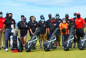 Cabot Cape Breton in Inverness hosted a Black Lives Matter Golf mentorship program for 14 local youth between the ages of 12-17. Shown are participants following the two-day event. Names were not provided. CONTRIBUTED • CABOT LINKS