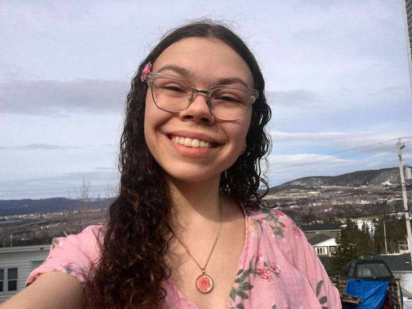 Violet Cummings is about to enter her first year at Grenfell Campus in Corner Brook. A regular tuition increase during the course of her studies is not something she was planning for. - Contributed