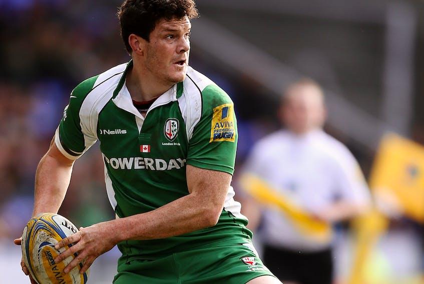 Hearn playing for the London Irish.