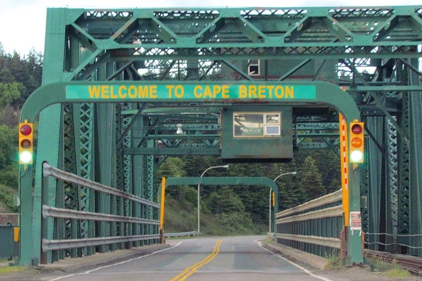 Motorists arriving to Cape Breton, moments after passing under the iconic 'Welcome to Cape Breton' sign on the bridge connecting the island to the mainland, will now be greeted in Mi'kmaw, the original language of the land, with a newly installed sign reading 'Pjila'si Unama'ki.' CONTRIBUTED – Dean Stucker/Panoramio photo