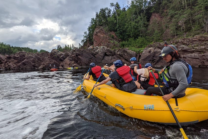 RaftingNL offers multiple options for rafters along the Exploits River. - Rafting NL photo