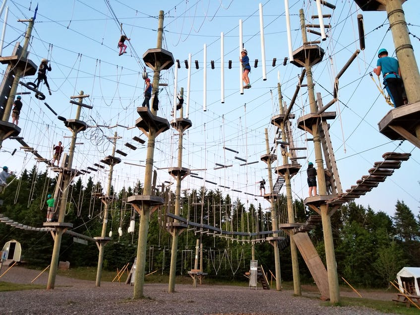 Look way up! Rise and Climb Adventure Course in PEI offers a high ropes course that was created to challenge visitors both physically and emotionally as they complete challenges 40 feet off the ground. - Rise and Climb Adventure photo - Saltwire network