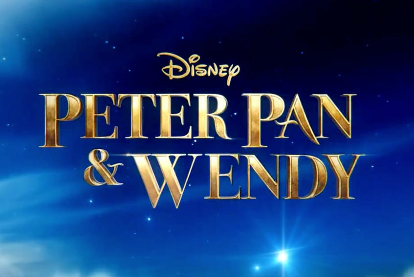 """The preliminary title card for """"Peter Pan and Wendy,"""" a Disney film that will use Newfoundland and Labrador as a backdrop."""