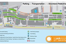 The City of St John's announced the mall sections of Water and Duckworth Street would be closed to traffic and parking as of July 2, as will Ayre's Cove at Harbour Drive and Beck's Cove.