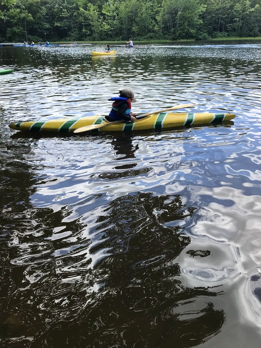 Rowan Brown is in his second season of kayaking on Bell Lake in Dartmouth, N.S., and loves paddling through a program called Active Kids at Abenaki Aquatic Club. — Contributed