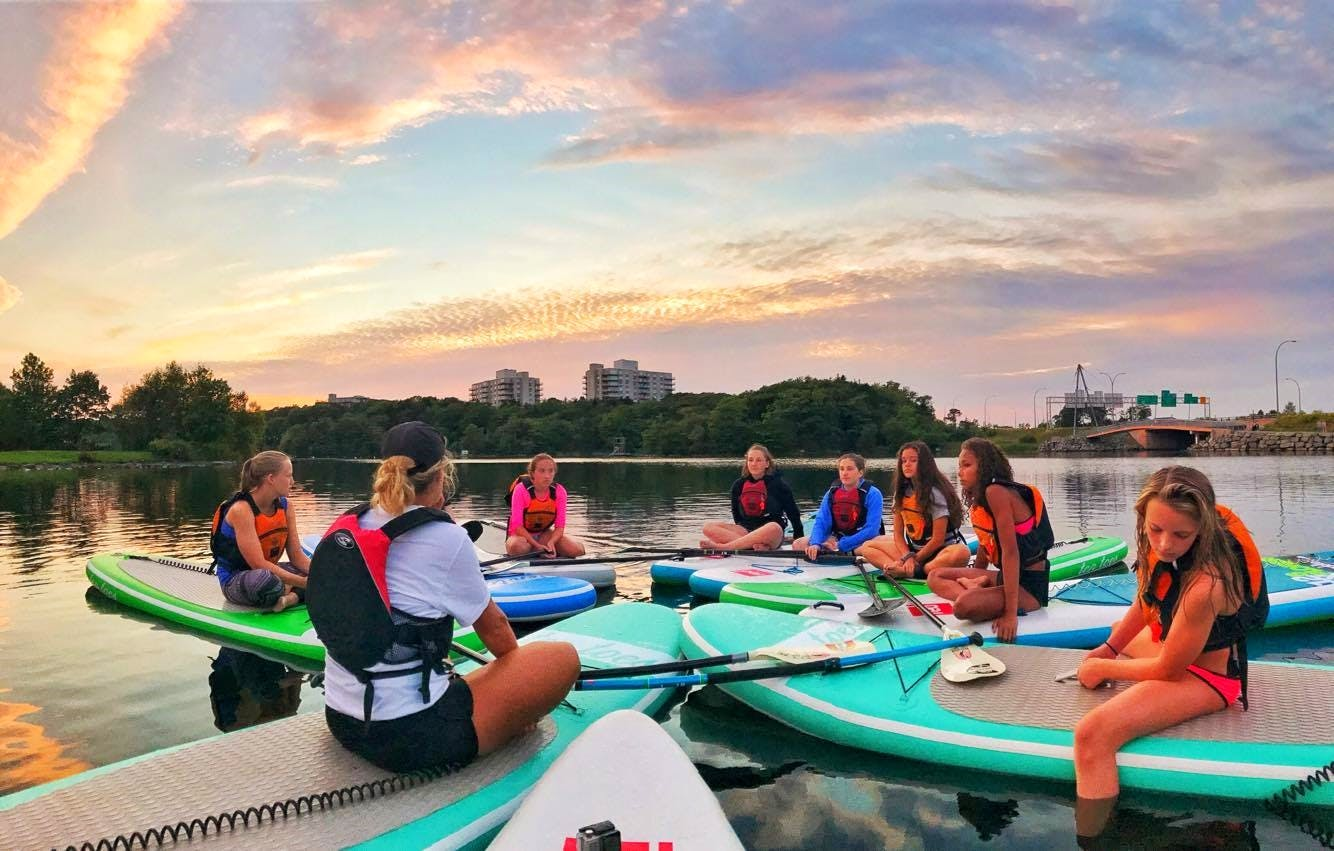 Girls on Boards is a non-profit organization that offers sponsored paddleboarding, and other board sports, experiences to girls ages eight to 18.