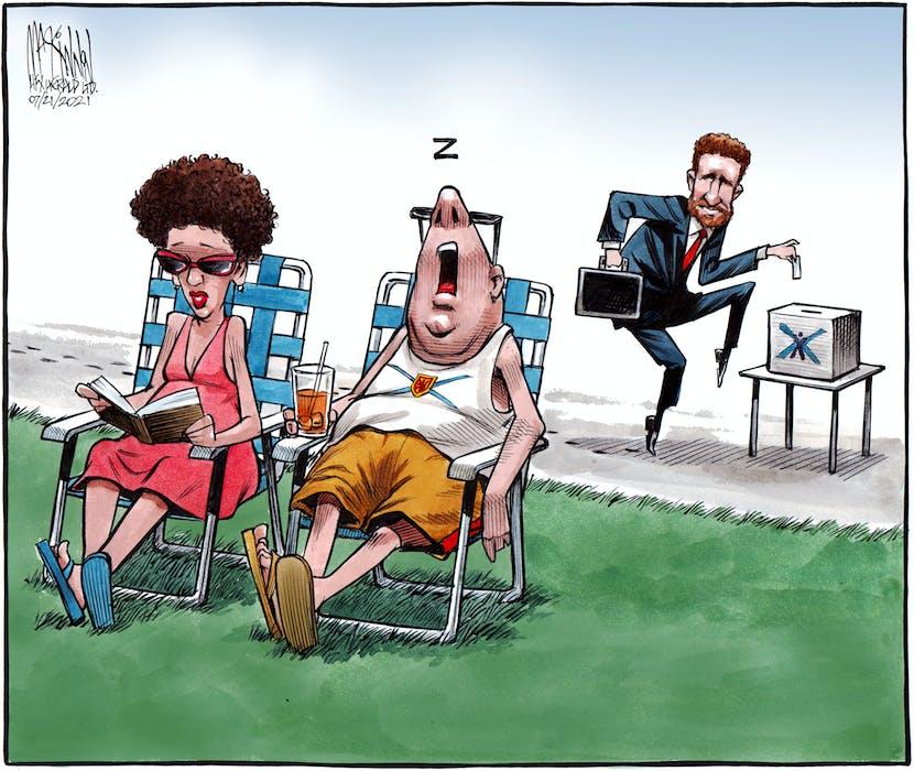 Bruce MacKinnon's cartoon for July 21, 2021. - Bruce MacKinnon