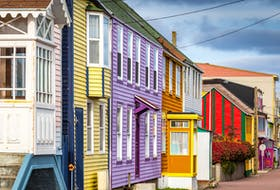 Some streets in St-Pierre are reminiscent of downtown St. John's. Mathieu Dupuis • contributed photo