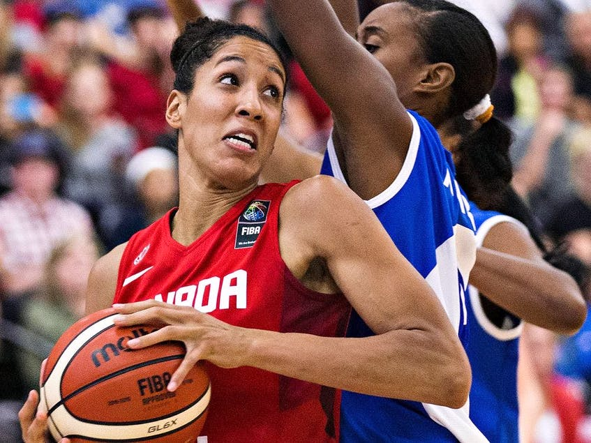 Canadian basketball player Miranda Ayim will be one of two flag-bearers for Canada. - Postmedia  photo