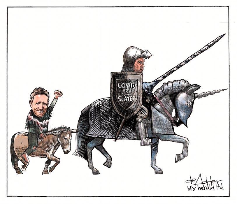 Michael de Adder cartoon for July 20, 2021. - Michael de Adder