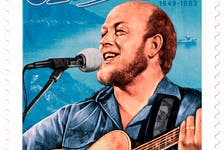 A new Canada Post stamp portrays folk icon Stan Rogers, over an image of the kind of East Coast landscape that inspired many of his best-known songs.