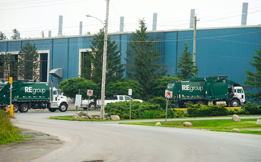 Trucks wait in line at the Otter Lake Landfill Facility on Wednesday, July 21, 2021. Ryan Taplin - The Chronicle Herald - Ryan Taplin