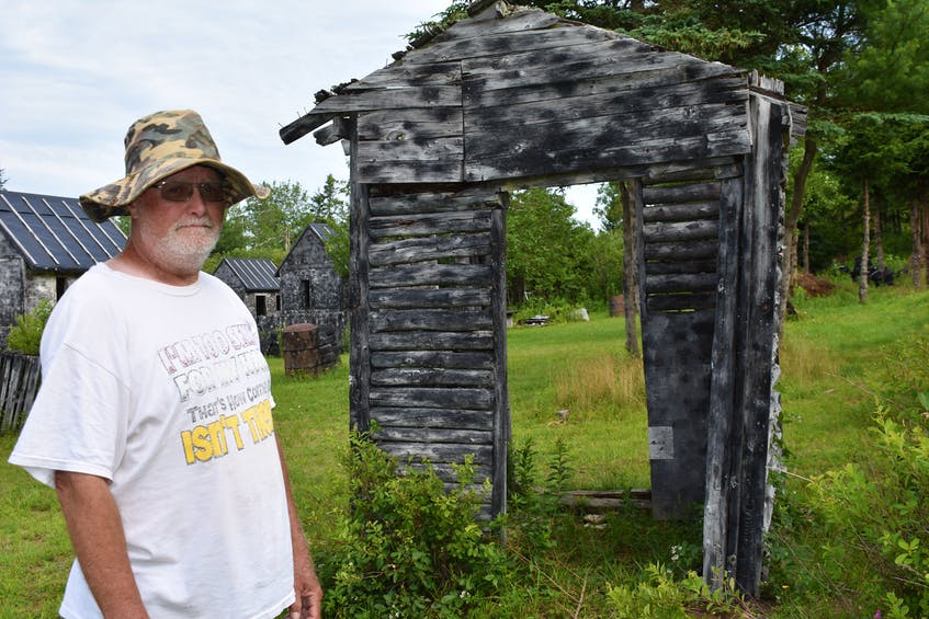 """The last remaining log hut from the original buildings constructed in about 1992 has been dubbed """"The Museum,"""" because of its steadfast longevity."""