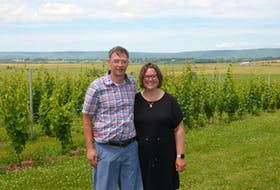 Jake and Melanie Eelman, owners of Beausoleil Farmstead, a farm stay, cidery and winery in Port Williams, have a unique experience and view of the Annapolis Valley to offer visitors. KIRK STARRATT