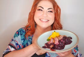 Chef Ilona Daniel uses in-season blueberries to complement this duck breast dish.