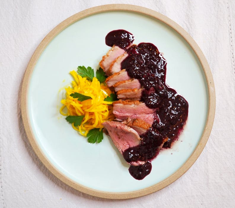 Pairing blueberries with wild game creates a