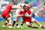 Rugby Union – England v Canada – Twickenham Stadium, London, Britain – July 10, 2021 Canada's Conor Keys in action.